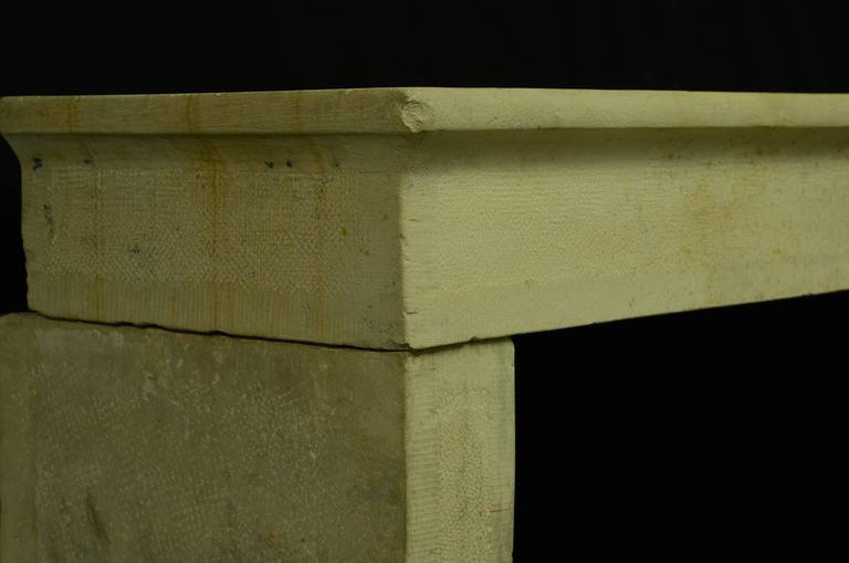 Antique French Limestone Fireplace Mantel, 19th Century In Excellent Condition For Sale In Haarlem, Noord-Holland