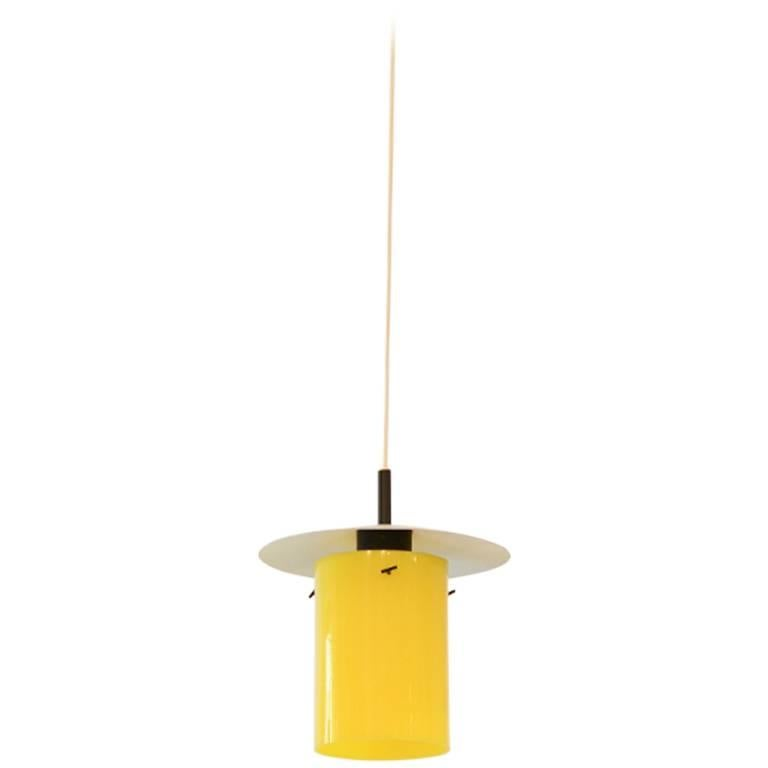 Yellow Hans-Agne Jakobsson Perspex Pendant for Markaryd