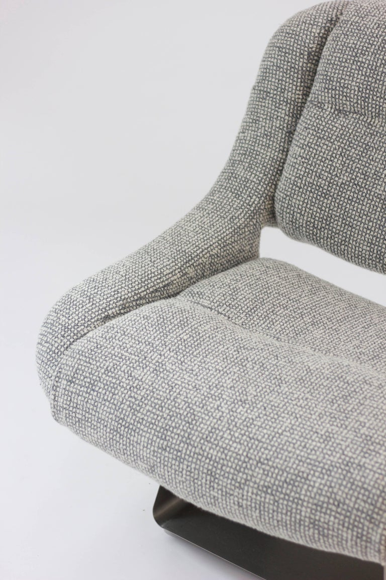 Set of Four Modernist Metal-Based Lounge Chairs For Sale ...