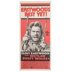 Original 1976 Film Poster 'the Outlaw Josey Wales' Australian