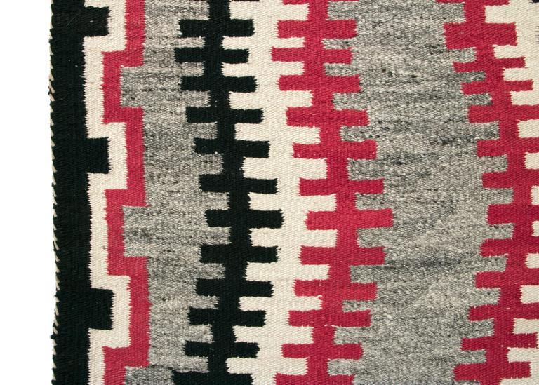Hand-Woven Vintage Navajo Trading Post Rug, circa 1930 For Sale