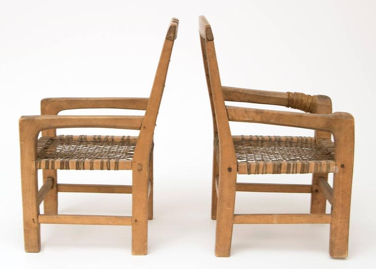 Antique Native American Miniature Chairs Northwest Coast Circa 1900 In Excellent Condition For