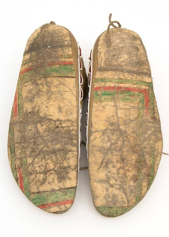Antique Native American Beaded Moccasins, Kiowa, Plains, 19th Century 2