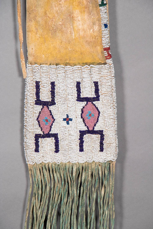 Antique Native American Beaded Pipe Bag Arapaho Circa