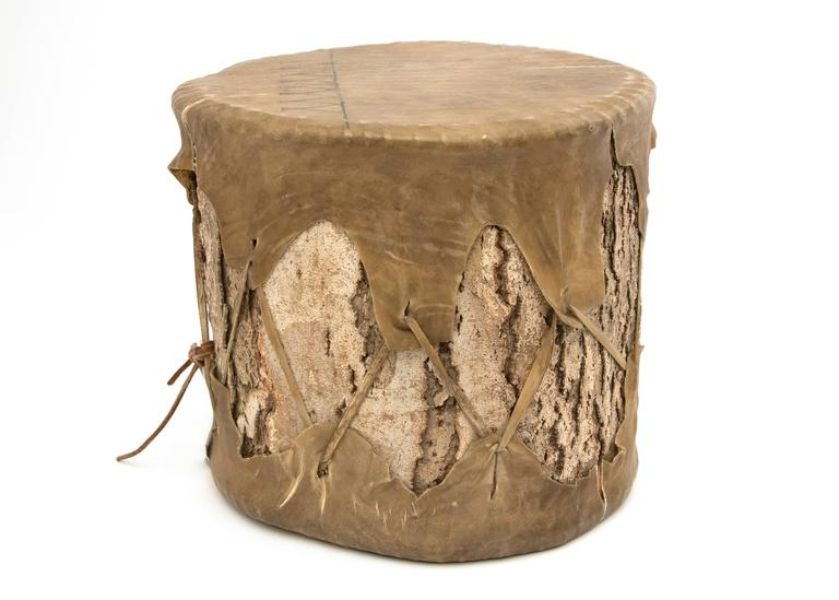 Native American Pueblo Drum And Plains Striker Early 20th Century For Sale At 1stdibs