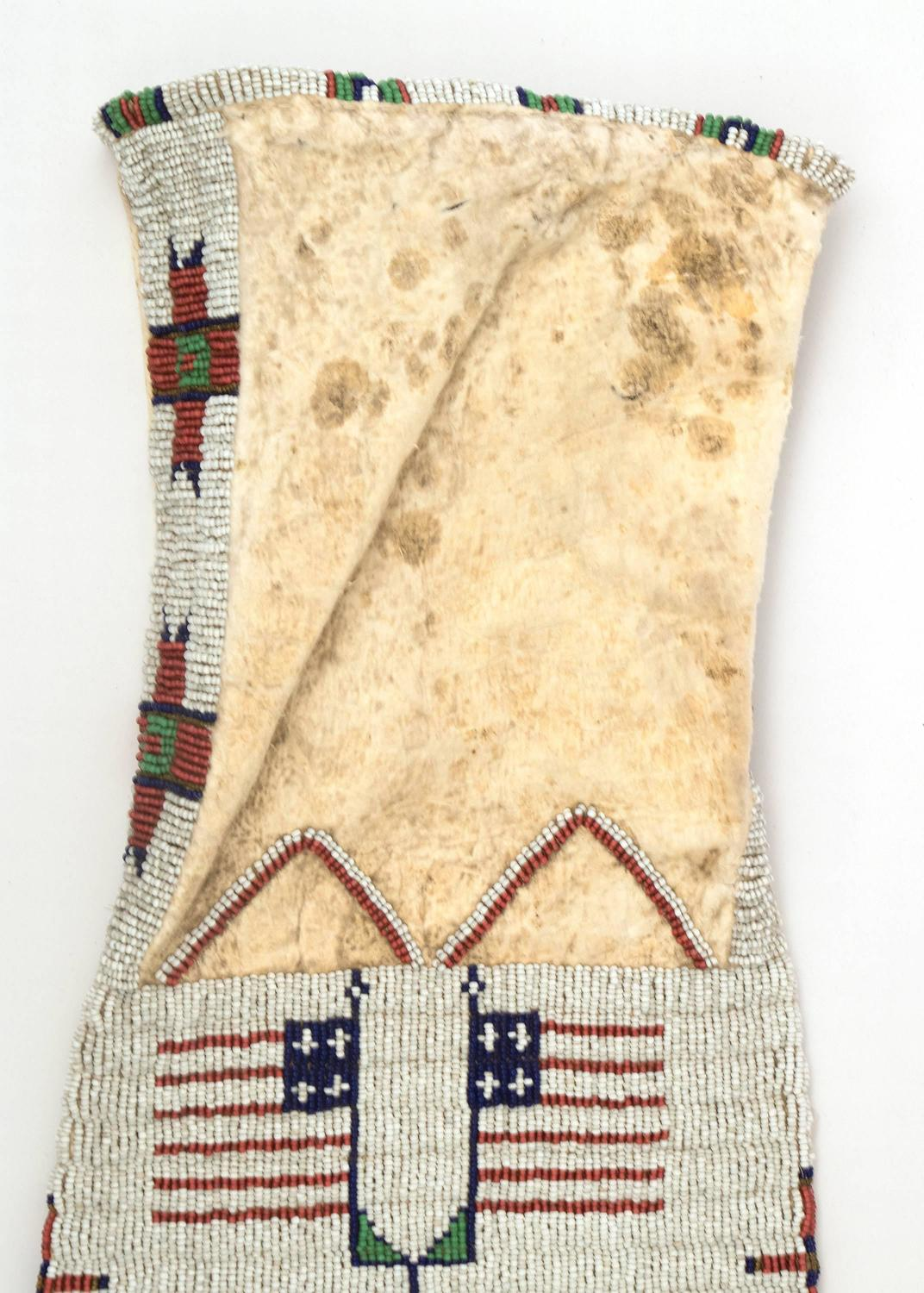 Antique Native American Pictorial Beaded Tobacco Bag ...