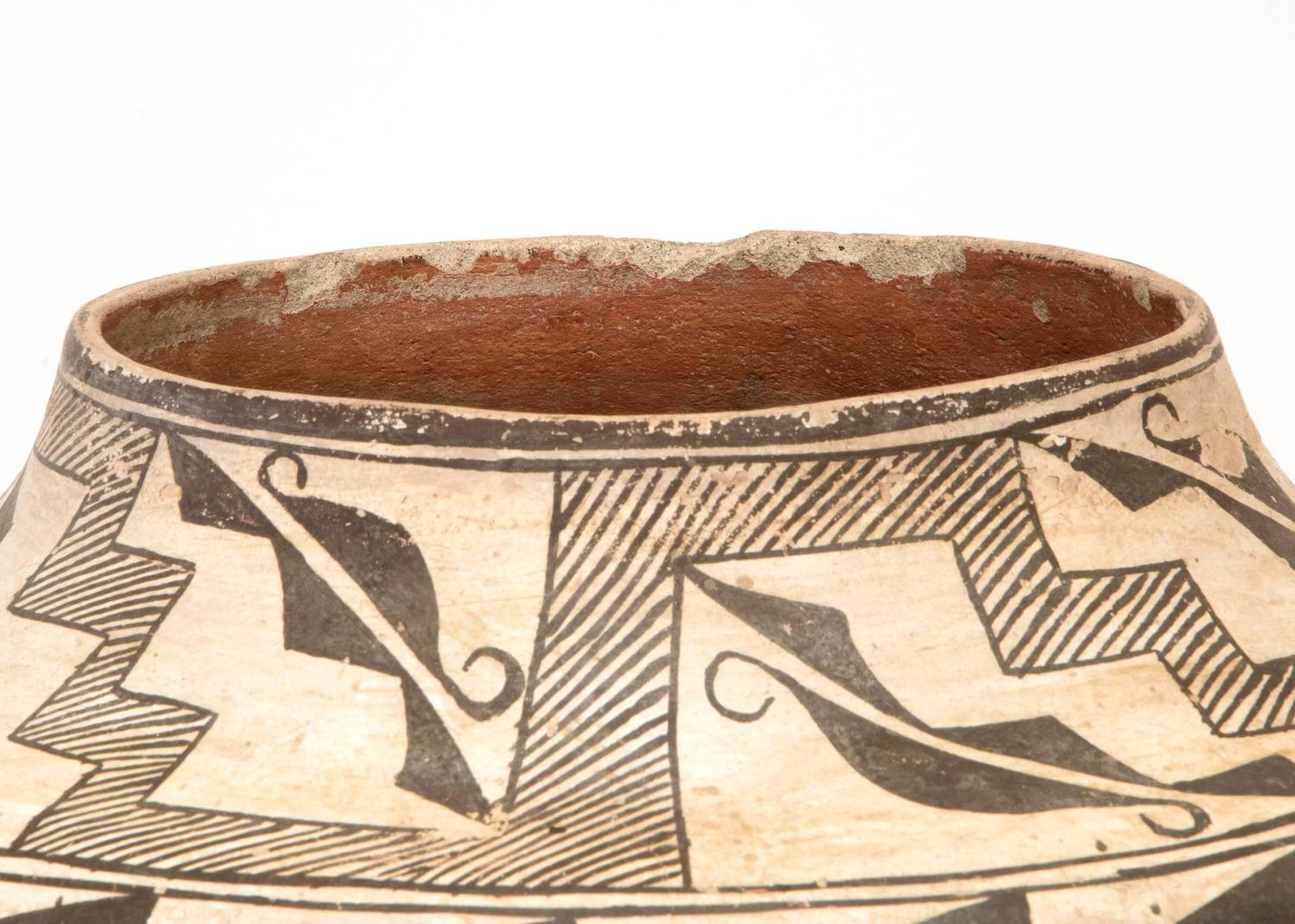 Antique Southwestern Native American Pottery Jar Acoma 39 Pueblo 39 20th Century For Sale At 1stdibs