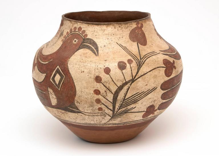 Native American Southwest Pottery Jar Zia Pueblo Circa