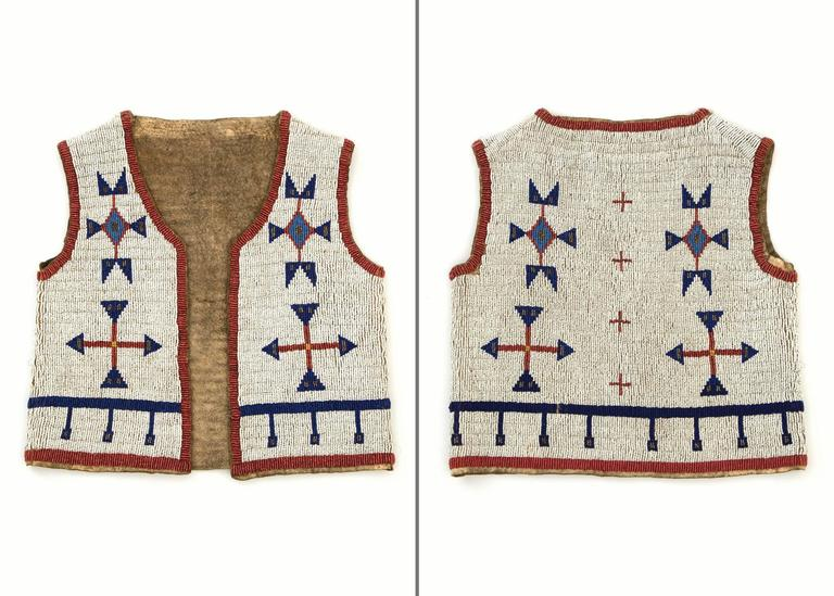 Antique Native American Beaded Child's Vest, Sioux (Plains), 19th Century 2