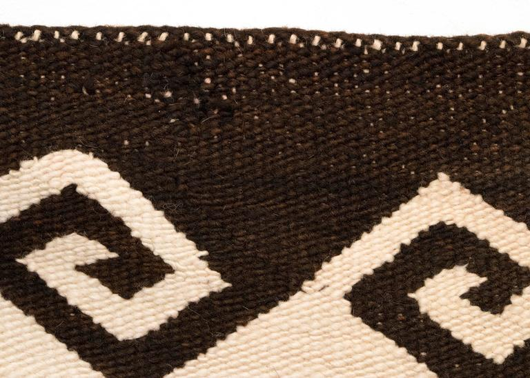 Vintage Navajo Double Saddle Blanket, Early 20th Century 5