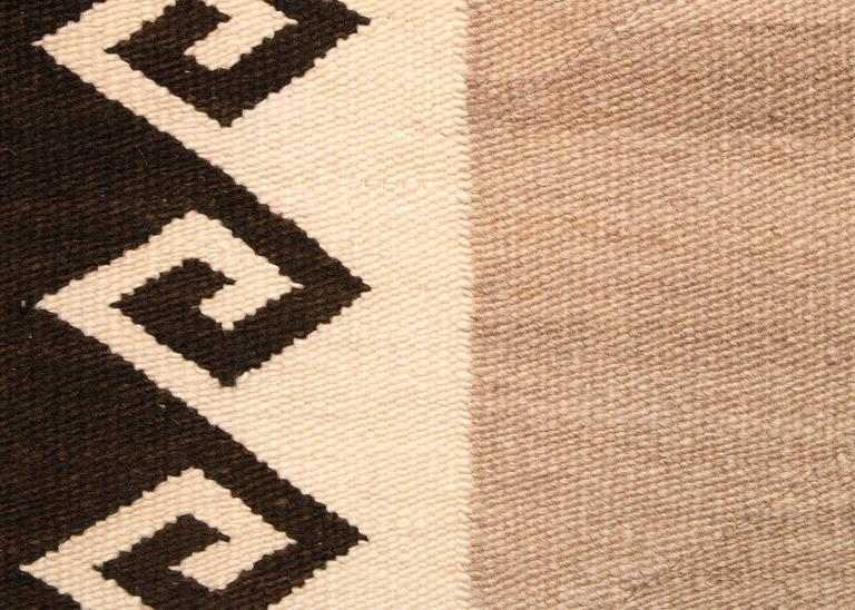 Vintage Navajo Double Saddle Blanket, Early 20th Century 4