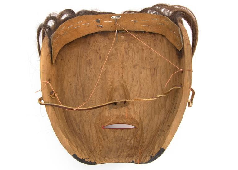 20th Century Northwest Coast Mask, Native American Killer Whale (Orca) Design For Sale