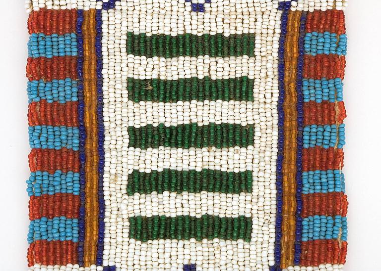 Antique Native American Child's Beaded Leggings, Cheyenne, Late 19th Century In Good Condition For Sale In Denver, CO