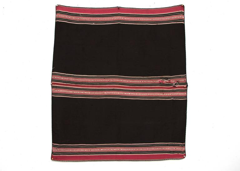 Native American Bolivian Aymara Aguayo Textile Woven of Camelid Wool, Mid-19th Century For Sale