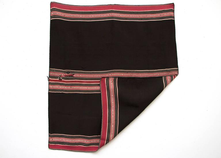 Beautifully woven of Camelid wool with natural dyes, originating from the Aymara culture, Bolivia.