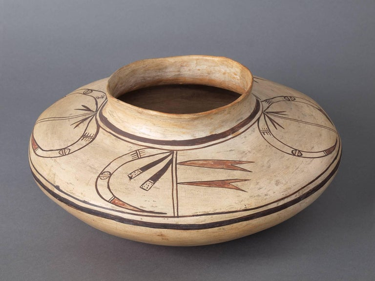 Antique Native American Polychrome Seed Jar, Hopi, circa 1890 In Good Condition For Sale In Denver, CO