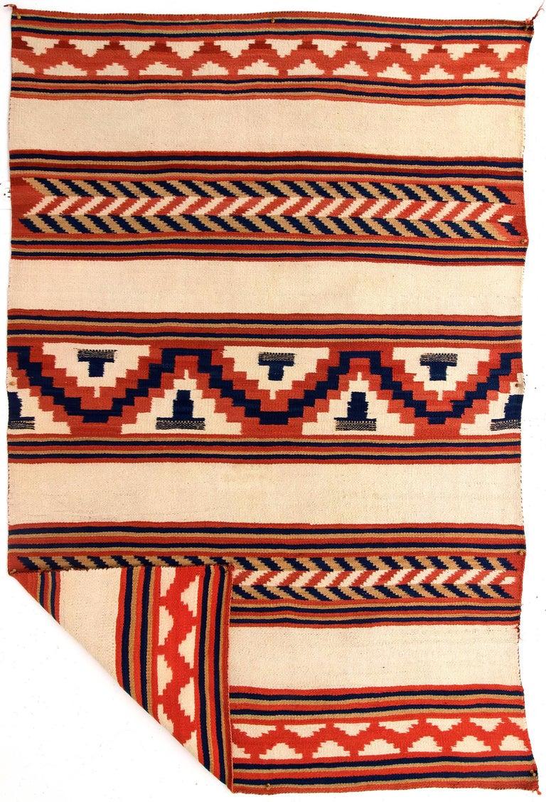 Antique Navajo Serape Circa 1875 Late Classic Period