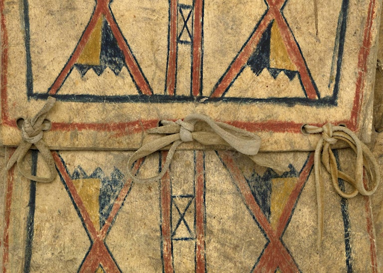 Antique Native American Parfleche Envelope, Blackfeet, circa 1875
