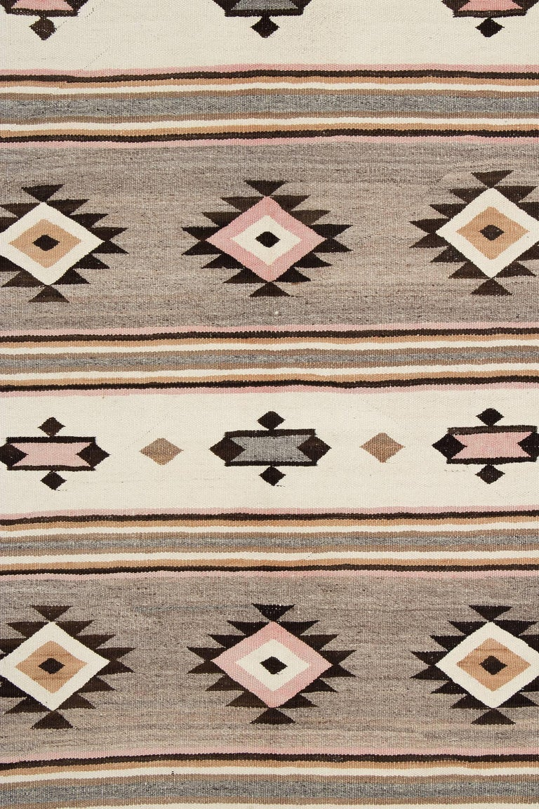 Vintage Navajo Trading Post Rug Chinle Revival Pattern