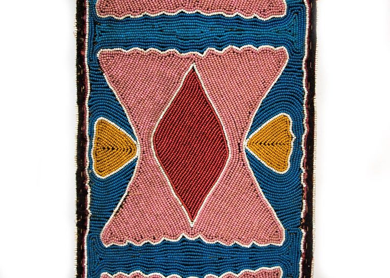 Classic Period Native American Beaded Bandolier Bag, Delaware, circa 1850 For Sale 2