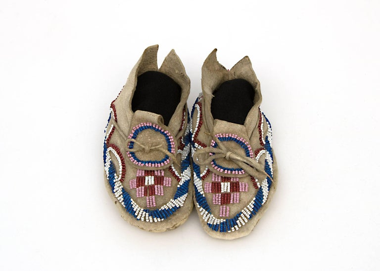 Native American Indian Child's Moccasins, Kiowa, 19th Century 2