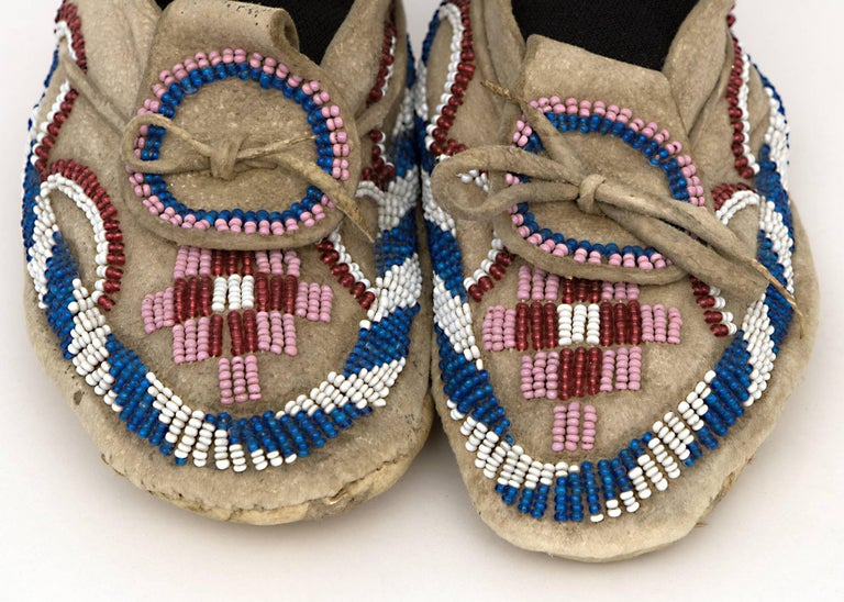 Native American Indian Child's Moccasins, Kiowa, 19th Century 3