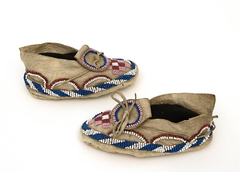 Native American Indian Child's Moccasins, Kiowa, 19th Century 4