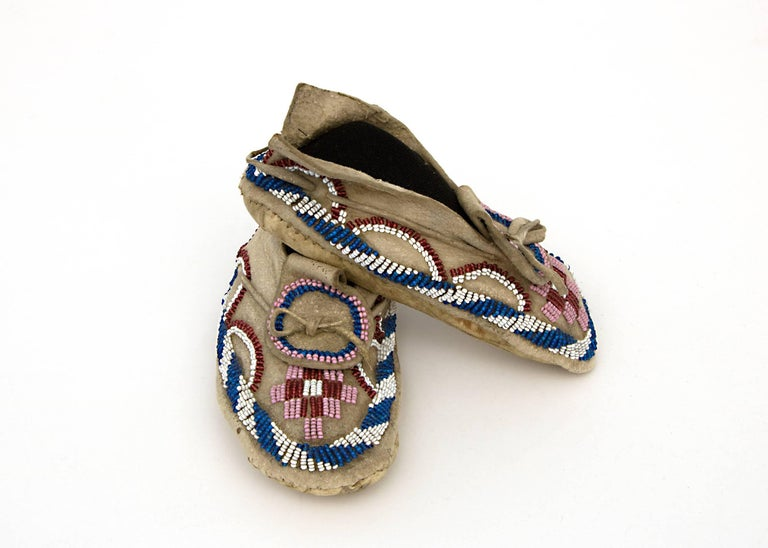 Native American Indian Child's Moccasins, Kiowa, 19th Century 6