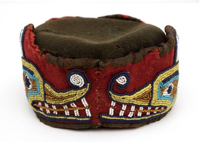 Native American Beaded Head Ring, Kwakwaka'wakw 'Kwakiutl', Late 19th Century 5