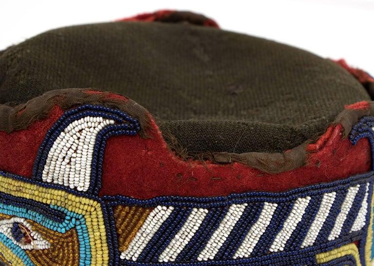 Native American Beaded Head Ring, Kwakwaka'wakw 'Kwakiutl', Late 19th Century 9
