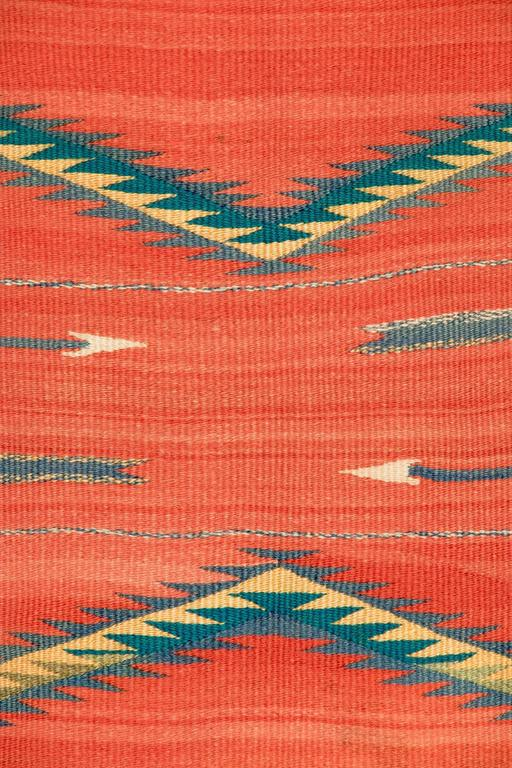 Woven Native American Transitional Blanket, Navajo, circa 1875-1900 For Sale