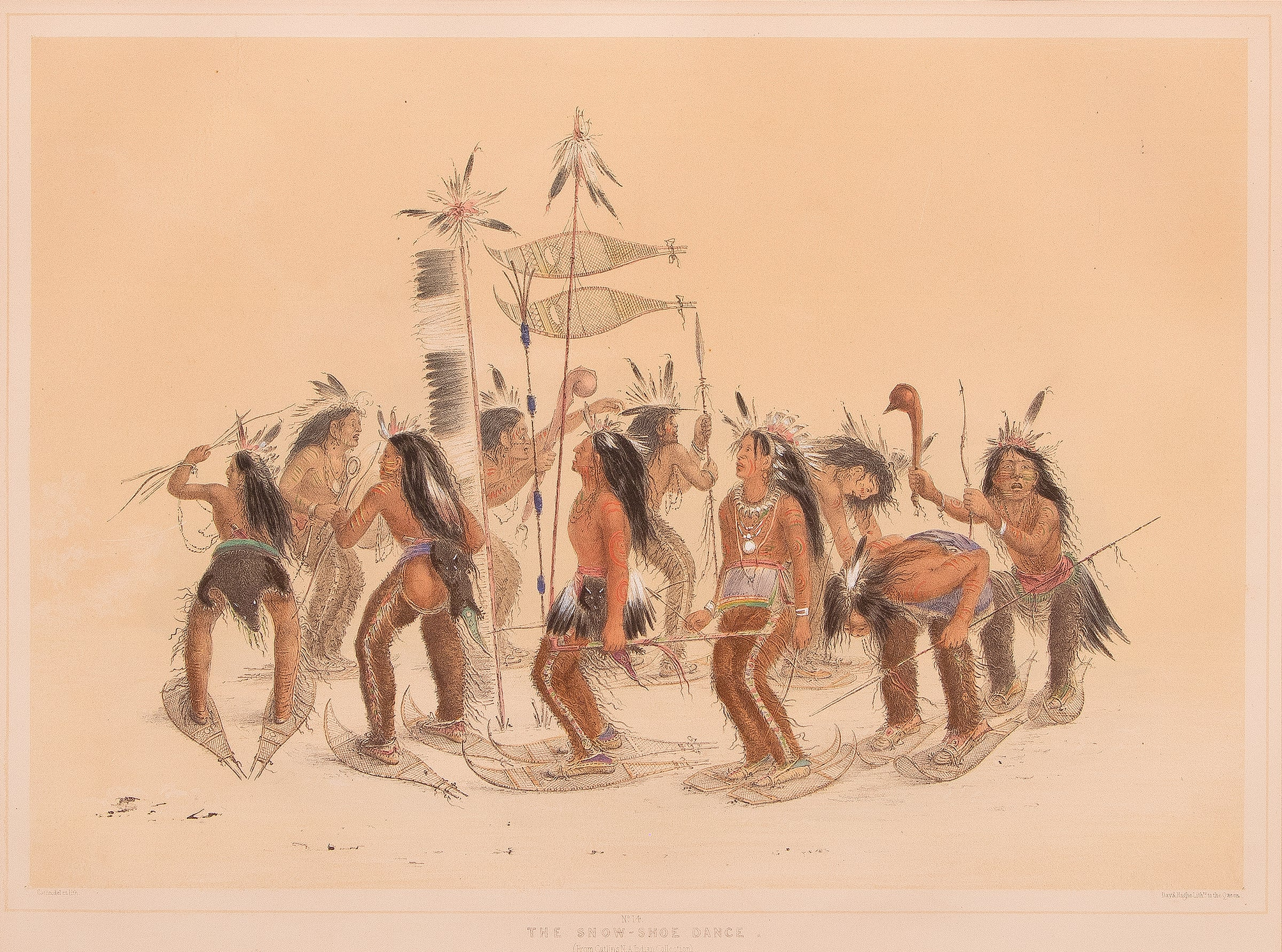 George Catlin, Two Hand-Colored Lithographs: North American Indian ...