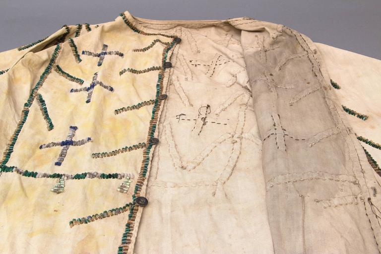Beaded Antique Native American Grass Dance Jacket, Sioux, 19th Century