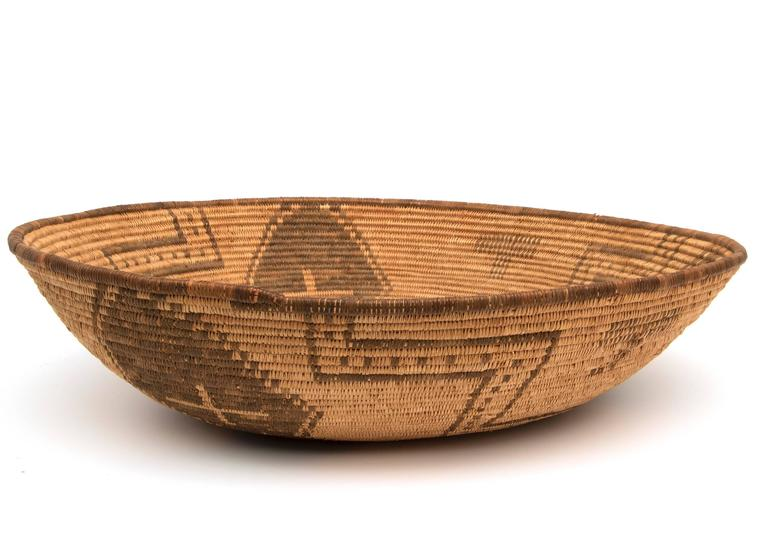 Woven Antique Native American Basketry Bowl, Apache, 19th Century For Sale