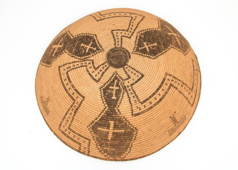 Antique Native American Basketry Bowl, Apache, 19th Century For Sale 1