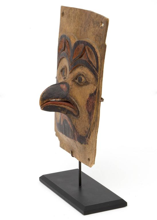 Antique Northwest Coast Carved Frontlet, Tlingit/Tsimshian, late 19th century 6