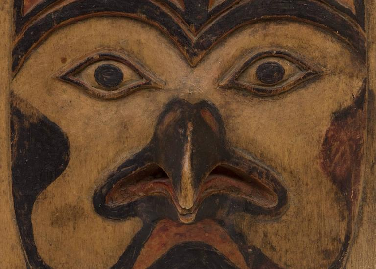 Antique Northwest Coast Carved Frontlet, Tlingit/Tsimshian, late 19th century 5