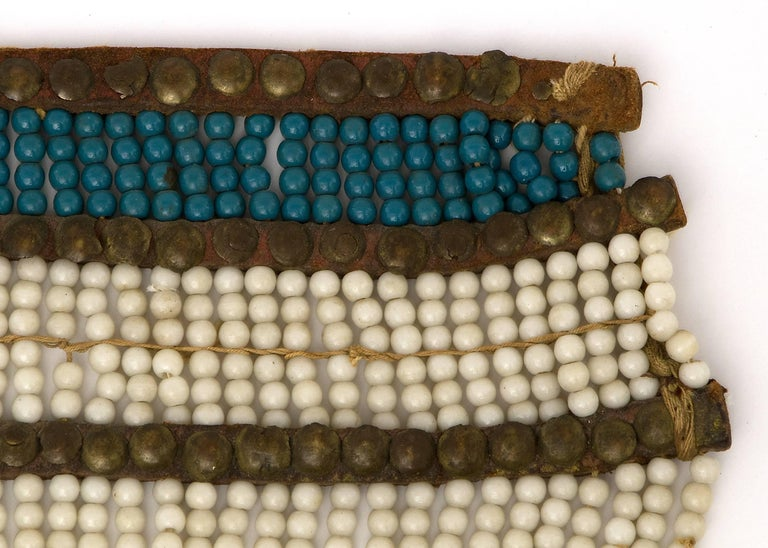 19th Century Classic Period Native American Pony Beaded Breastplate, Plains Ute, 1850-1875 For Sale