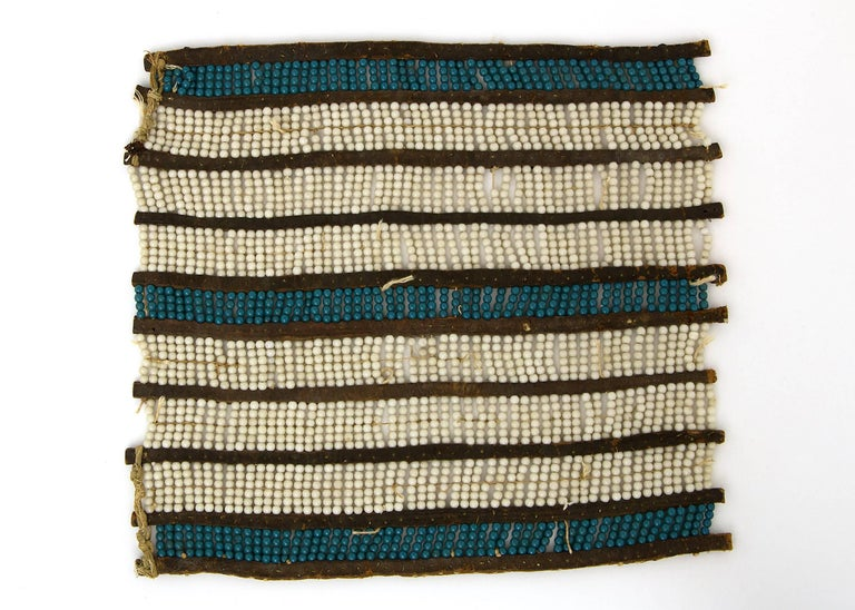 Beads Classic Period Native American Pony Beaded Breastplate, Plains Ute, 1850-1875 For Sale
