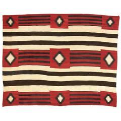 Vintage Navajo Rug, Chief's Blanket Revival, circa 1930