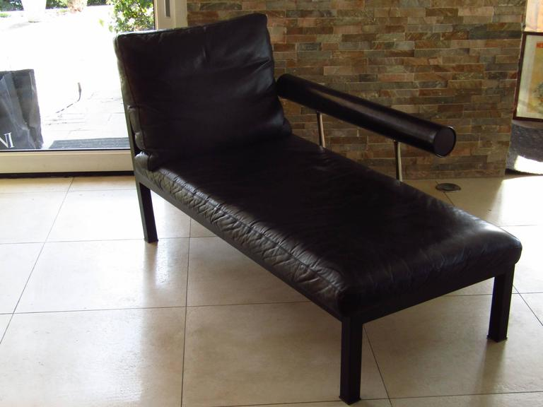 Mid-Century Leather Chaise Longue by Antonio Citterio for B&B, Italy 4