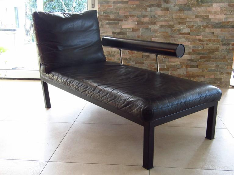 Mid-Century Leather Chaise Longue by Antonio Citterio for B&B, Italy 6