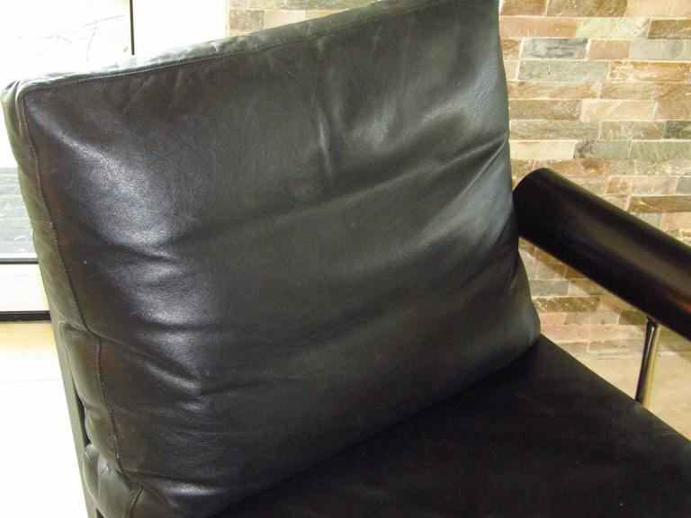 Mid-Century Leather Chaise Longue by Antonio Citterio for B&B, Italy 8