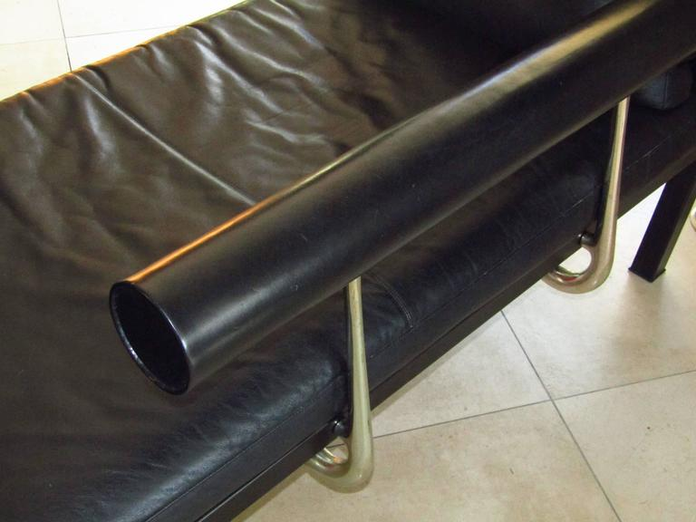 Mid-Century Leather Chaise Longue by Antonio Citterio for B&B, Italy 10
