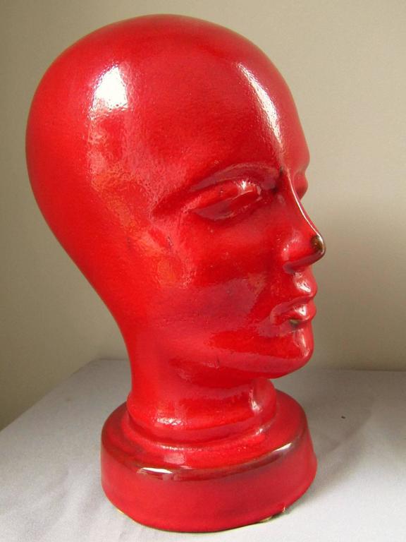Midcentury German Ceramic Head Sculpture From Ruscha 1960