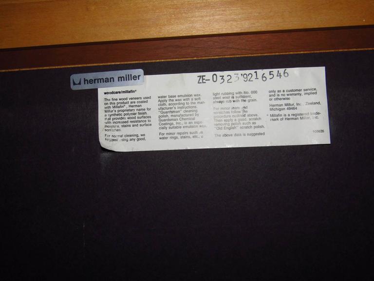 Metal Midcentury Adjustable Desk by Geoff Hollington for Herman Miller For Sale