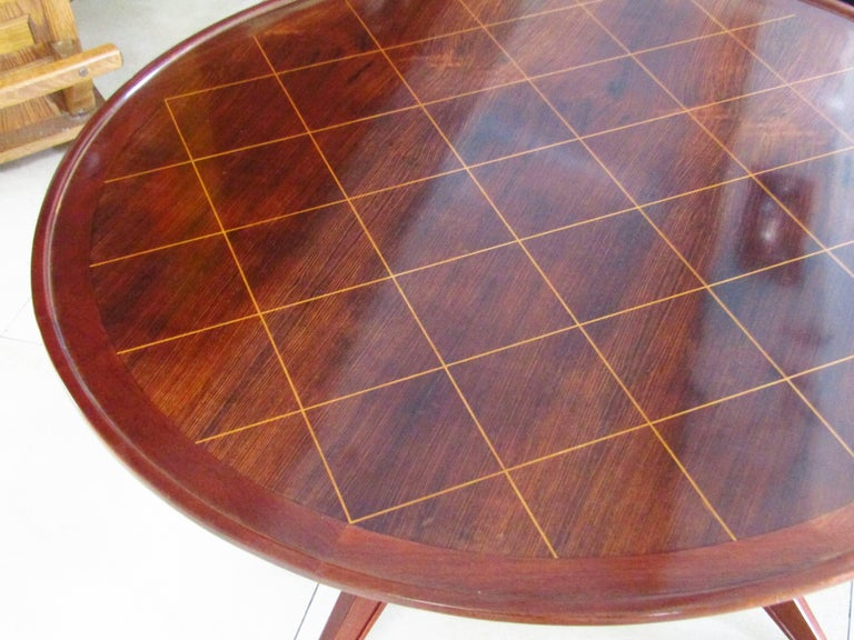 Midcentury Art Deco Rosewood Coffee Table, France, 1940s For Sale 4