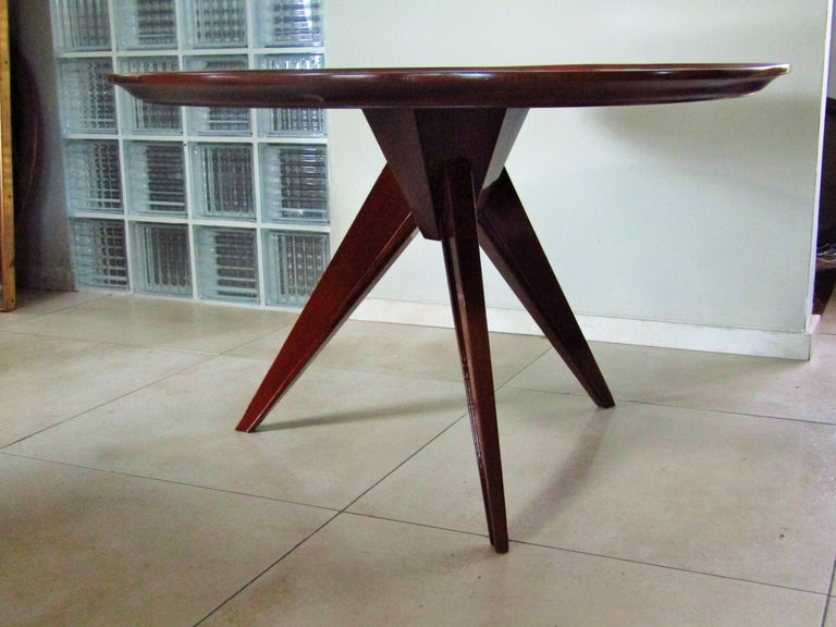 Palisander Midcentury Art Deco Rosewood Coffee Table, France, 1940s For Sale