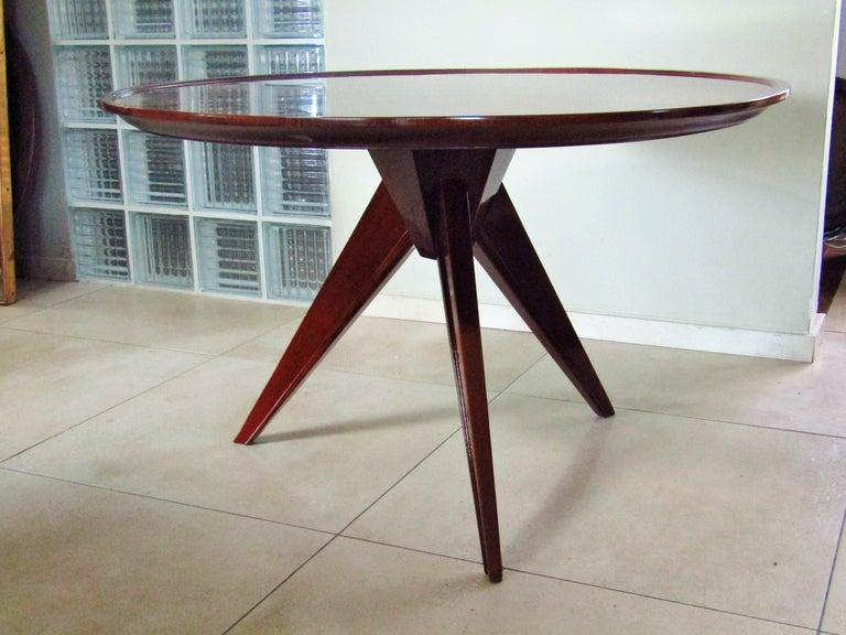 Midcentury Art Deco Rosewood Coffee Table, France, 1940s In Excellent Condition For Sale In Saarbruecken, DE