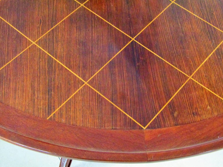 Midcentury Art Deco Rosewood Coffee Table, France, 1940s For Sale 2